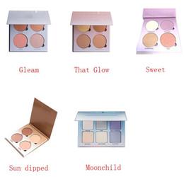 Wholesale ABH Bronzers Highlight Ana Glow Kit Sun Dipped That Glow Gleam Moonchild Sweet Blush Powder Blusher Palette Cosmetic Blushes