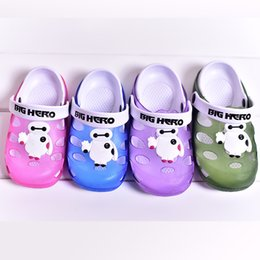Wholesale Home bathroom slippers summer new children s cartoon men and women Baotou tunnel white slip jelly sandals and slippers