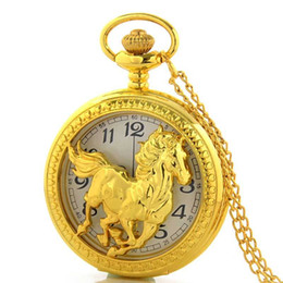 mens antique gold pocket watches suppliers best mens antique whole high quality retro vine steampunk gold horse hollow pocket watch necklace mens jewelry cheap mens antique gold pocket watches