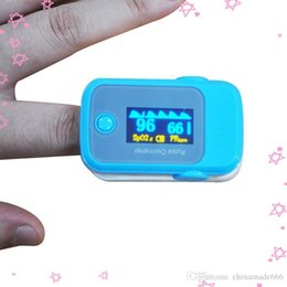 Wholesale PO10004A44 with Pulse Sound Audio Alarm OLED Fingertip oxymeter spo2 PR monitor Blood Oxygen Pulse Oximeter Freeshipping blue