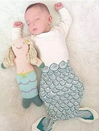 Wholesale New children Sleeping Bags baby kids mermaid sleeping bags Newborns sleeping bag Strollers Bed Swaddle Blanket Wrap cute Bedding A9031