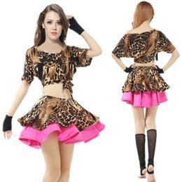 Wholesale New Leopard Grain Women Belly Dance Costume Set Bellydance Skirt Tribal Indian Dress Belly Dancing Clothes Bellydance Costume