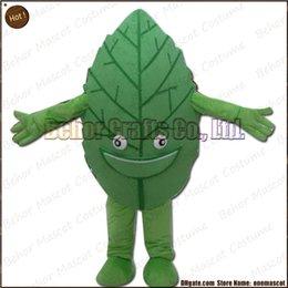 Wholesale Le costume de mascotte de feuilles la livraison libre adulte bon marché de bande dessinée de mascotte de feuille de peluche de haute qualité acceptent l ordre d OEM