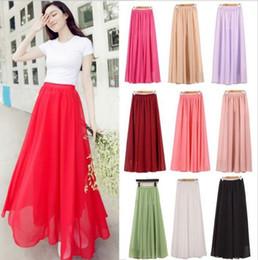 Hot Pink Chiffon Maxi Skirt Online | Hot Pink Chiffon Maxi Skirt ...