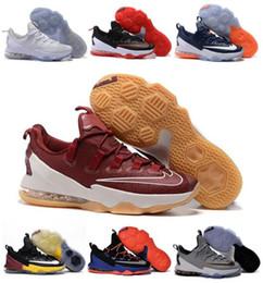 2016 Basketball-Schuhe der neuen Ankunft Männer Lebron 13 niedrigster Turnschuh-Schwarz-Sport-authentischer Mann LB 13s James-preiswerte Verkaufs-Größe US7-12