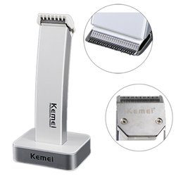 Wholesale 2 colors style kemei KM rechargeable hair clipper electric shaving hine razor barber cutting beard trimmer Haircut Set Cordless