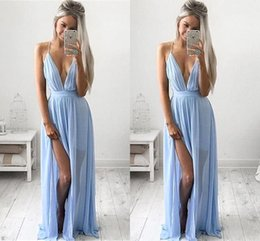 Discount Baby Blue Maxi Dresses  2017 Baby Blue Maxi Dresses on ...