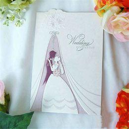 Wholesale 2016 European Style Handmade Personalised Wedding Bride Groom Congratulations Card Party Wedding Invitations Cards Wedding Cards
