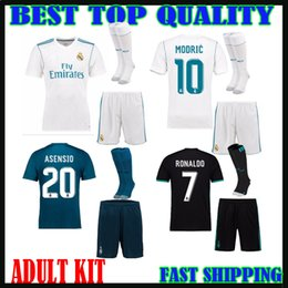 296f3c567 17 18 Real Madrid ASENSIO soccer jerseys adult sets 2017 2018 RONALDO BALE  ISCO RAMOS men kits football shirts home away third customize cheap  customize ...