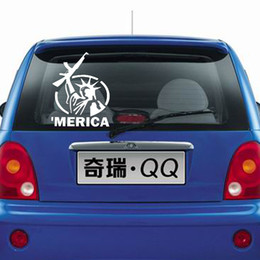 2017 liberty vinyl 'Merica Decal Car Sticker Car Decals Statue Of Liberty Removable Auto Styling Self Adhesive