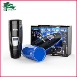 Wholesale Utoo Modes Electric Retractable Thrusting Automatic Male Masturbator Hands free Male Masturbation Sex Toys For Men Free DHL