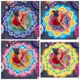 4 Designs New Designer Mandala Tapestry Indian Wall Hanging Beach Throw Towel With Tassel Yoga Mat Polyester Printed Blanket Cca4998 20pcs