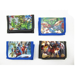 20pcs The Avengers 2 Age of Ultron children wallet 2015 super heros boys and girls Purse cartoon Captain America kids wallets cheap 201505HX