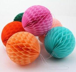 party decoration 1435cm tissue paper honeycomb balls wedding bridal shower honeycomb lanterns - Tissue Paper Decorations