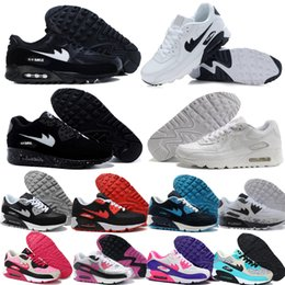 Discount Shoes Run Air Max Classic Wholesale Air Mesh 90 Max White Colors Mixed Sneakers for Cheap, Men & Women Red Black Pink Navy Purple Casual Jogging Running Shoes