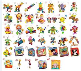Grande promotion! Lamaze jouet jouets de crèche avec hochet dentition bébé développement précoce poussette de jouet musique poupée jouet Lamaze Tissu Livre Livres