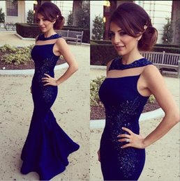 Wholesale 2016 Mermaid Sequin Evening Dresses Sleeveless Beaded Applique Prom Gowns Vintage Long Waltercollection Carpet Formal Party Dress Real Image