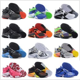 online shopping Original Children Kids Cheap Basketball Shoes Men Lebron Soldiers Sneakers Good Quality Authentic LB New Style Sports Shoes Size