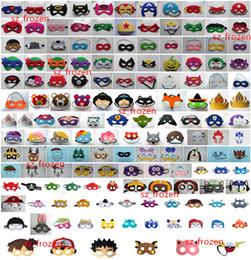 Wholesale 150 Styles Super hero Cartoon Mask Eye Shade for Children Pikachu Poke TMNT mask Halloween Mask for Children Halloween costume