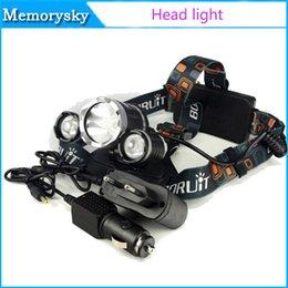 de haute qualité 5000 Lumen 3XCREE XM-L T6 LED headlamp 18650 Tête Lampe torche + 2XCharger pour Camping Outdoor