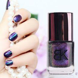 Wholesale 8ml Holographic Nail Polish BK Brand Glitter Nail Varnish Enamel Professional Nail Art Cosmetics Color