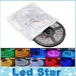 5M 5050 3528 5630 Led Strips Ruban extérieur Lumière Blanc Chaud Rouge Vert Bleu RGB Flexible 5M Rouleau 300 Leds 12V Etanche