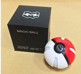 Pokeball banco de la energía 10000mAh del empuje de la bola LED USB de la forma externa del cargador de batería del cargador del teléfono 10pcs OOA404