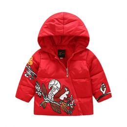Wholesale Children Winter Jacket Outwear Animal Pattern Girls Coat Folk Style Coat Kids Baby Jacket Girls Winter Coats