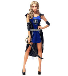 Wholesale Halloween Ancient Greek Ares Female Warrior Goddess Game Uniforms Cosplay Party Dancer DS Nightclub Costume Stage Wear