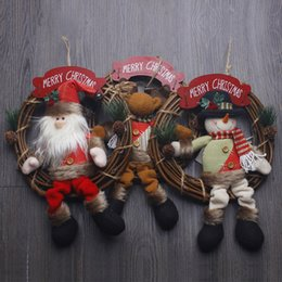 Christmas Pendant Door Decoration Santa Snowman Party Christmas Home Deco Xmas Ornaments