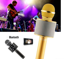 new WS-858 Wireless Speaker Microphone Portable Karaoke Hifi Bluetooth Player WS858 For iphone 6 6s 7 ipad Samsung Tablets PC