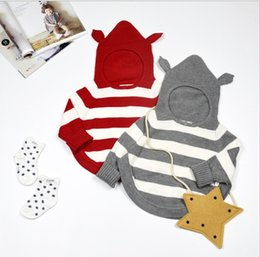 Wholesale 2016 INS Hooded Pullover Sweaters Boys Girls Baby Childrens Clothing Kids Clothes Knitted Jumper Outwear Jumpers Toddler Tops Infant Wear