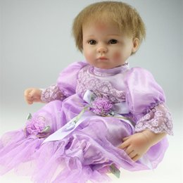 Wholesale High Quality Real Life cm Silicone Reborn Baby Dolls Soft Touch Body New Reborn Babies Doll Toys For Kid Gifts Growth Partner