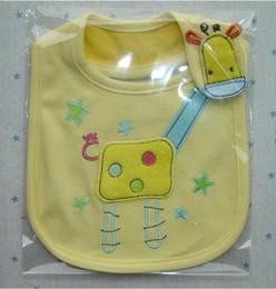 Wholesale with single package cartoon baby cotton bib baby Bibs three layer waterproof saliva towel bib Burp Cloths Baby Feeding