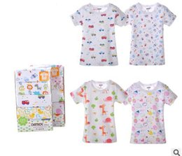 Wholesale Hot Sale Cartoon Print O Neck Short Sleeves Car Bear Giraffe Ice Cream Cotton Summer Baby T Shirt ZHY04