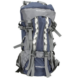 80l professional backpack shoulders bag camping hiking external frame blue from external backpack frames manufacturers