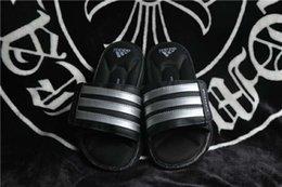 2016 original de Adidas zapatillas Chancletas superestrella de tirón para hombres de la manera del hombre del verano Tamaño de cuero Negro blanco barato 40-44 envío gratuito