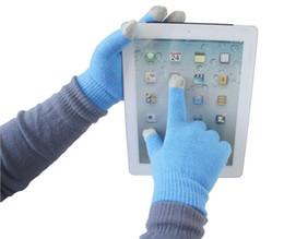 Magic Touch Screen Smartphone Guantes Los mensajes de texto estiramiento adulto Un tamaño de invierno de punto