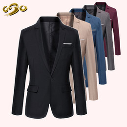 Wholesale 6 Colors Size XS XL Fashion New Arrival Men s Fashion Solid Casual Blazer for Business