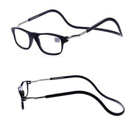 Wholesale 2016 New Removable Reading Glasses Neck Hanging on Eyeglasses Ultralight Magnet Presbyopia Diopter