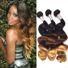 Discount ombre human hair wave Ombre hair weave ombre grade 7A hair extensions Brazilian Malaysian Indian Peruvian Virgin Hair Ombre Loose Wave,Human Hair Weave