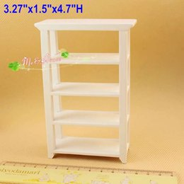 1:12 scale Dollhouse Miniatures White Bookcase shelving showcase Doll house wood  furniture Mini muebles