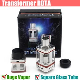Wholesale Transformer RTA RTDA en acier inoxydable rebuidable atomiseur Mod RDA verre Place de la force aérienne de Tube un e cigs mods Vapor atomiseur DHL