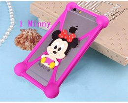 Wholesale 6S Note5 S6 Edge Universal Silicone Bumper Frame Cartoon Case Sulley Bear Stitch Monster Doll for iPhone Plus Samsung HTC LG Sony Nokia