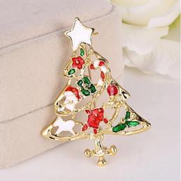 Christmas Tree Brooch Christmas Santa
