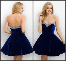 Discount Blue Velvet Homecoming Dresses - 2017 Blue Velvet ...