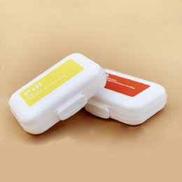 Wholesale Portable Multilayer Compartment Red Yellow Moistureproof Pill Case Pill Organizer Box Tablet Pill Container ZA0203