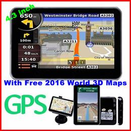 New   Inch Gps Car Navigation Mtk Gb Capacity Uk Eu Au Nz Maps Speedcam Dhl Free Shipping