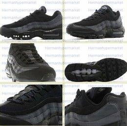 2016 Shoes Run Air Max Hot Sale Man Air Shoes Outdoor Jogging Sportwear Men Retro Max 95 OG Triple Black Sport Running Shoes Boy Trainer Sneakers