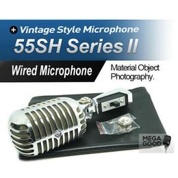 Vente HQ Export Version 55SH II Microphone dynamique 555HH Classique Vintage Style Microfone 55SH Série II Mic